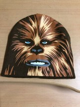 Kids Disney Star Wars Chewbacca Face Brown Knit Beanie Hat Cap  - $7.69