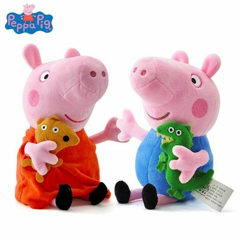 Genuine Peppa Pig 19CM Pink Pig Plush Toys High Quality Hot Sale Soft Stuffed - $9.69 - $10.68