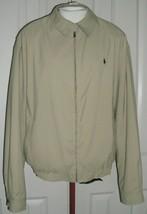 Ralph Lauren Men's BI-SWING Golf Jacket Polo Pony Wind Resistant Tan Size Xxl - $54.99