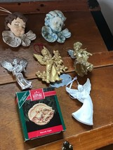 Estate Lot of Hallmark Heavenly Gilt Painted Resin Sparkly Silver Plastic White  image 2