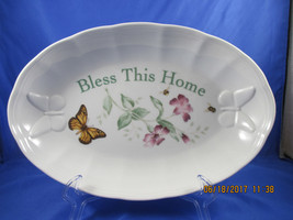 Lenox BUTTERFLY MEADOWS Bless This Home Oval Serving bowl - $15.00