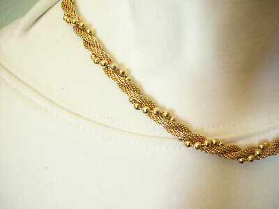 Avon Gold Plate Mesh Twist Ball Chain Choker Necklace Elegant Classic image 2
