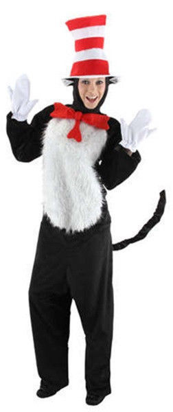 Primary image for Dr. Seuss The Cat In The Hat Deluxe Adult Costume Kit Small/Medium, New Unworn