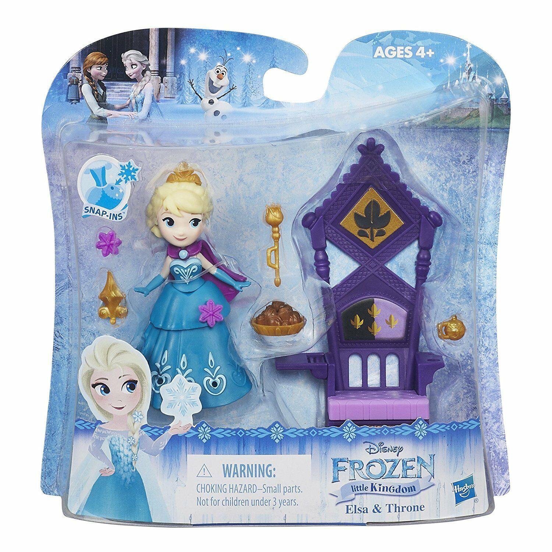 Disney Frozen Little Kingdom Elsa & Throne Snap-Ins w/Included Accessories - $16.78