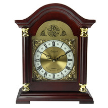 Bedford Clock Collection Redwood Mantel Clock with Chimes - $71.59