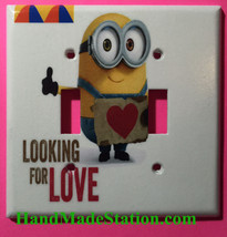 Minions Looking for Love Light Switch Power Outlet Cover Plate Home Decor image 2