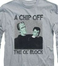 The Munsters t-shirt retro Chip Off the Ol Block long sleeve gray tee NBC908 image 3