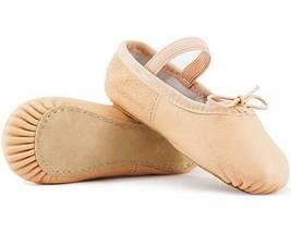 DIPUG Genuine Leather Ballet Shoes for Girls Ballet (7.5 Toddler|Ballet ... - $20.72