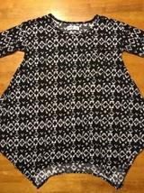 Abercrombie Kid's Girl's Black & White Long Sleeve Shirt - Blouse - Size: Small image 2