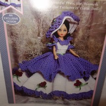 "Camelia Crochet Dress Pattern 15"" Fashion Doll Fibre Craft 1994 FCM415 - $9.99"