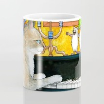 Coffee Mug Cup 11oz or 15oz Made in USA Cat 506 mouse piano funny art L.... - $19.99+
