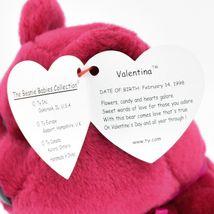 1998/1999 Ty Beanie Baby Original Valentina Valentines Bear Beanbag Plush Toy image 5