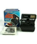 Vintage Polaroid Instant One Step Camera W/Box Instructions & Strap - $28.02