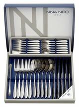 Comolife Silver Stainless Steel Stylish Cutlery Set by NINA NIRO , 28pc ... - $39.54