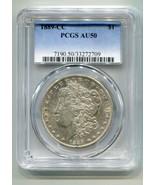 1889-CC MORGAN SILVER DOLLAR PCGS AU50 NICE ORIGINAL COIN KEY DATE BOBS COINS - $7,400.00