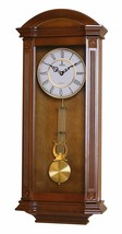 "Nice Wooden Chiming Wall Clock Ornate Roman Numerals Traditional 27.25"" ... - $250.00"