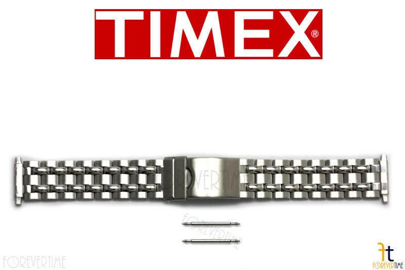 Primary image for TIMEX Q7B873 16-20 mm Original Stainless Steel Watch BAND Strap w/ 2 Pins