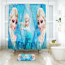 Cartoon 04 Shower Curtain Waterproof Polyester Fabric & Bath Mat For Bathroom - $16.30+