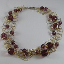 .925 RHODIUM SILVER YELLOW GOLD PLATED, MULTI STRAND NECKLACE WITH CRISTALS image 2
