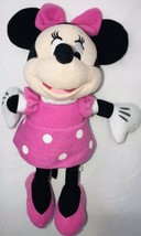 "Just Play Disney Minnie Mouse Pink white polka Dot Plush toy 10"" - $17.81"