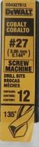 Dewalt DD4327B12 #27 Cobalt Screw Machine Drill Bits 12 Pack - $17.82