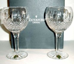 Waterford Glenmede Balloon Wine Juice Set of 2 Crystal Glasses 114848 New In Box - $168.90