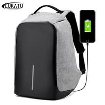 LUKATU Men Anti-theft USB Charging Backpack Male 15.6 Inch Laptop Backpa... - $45.99