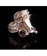 Vintage Western Saddle Ring - heavy sterling cowboy cowgirl ring - Size ... - $245.00