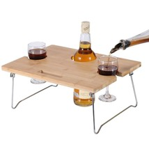 INNO STAGE Portable and Foldable Wine and Snack Table for Picnic Outdoor... - $34.83