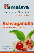 60 TABLETS HIMALAYA WELLNESS ASHWAGANDHA REJUVENATE MIND BODY IMMUNITY - $8.78