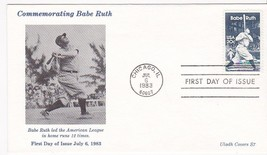BABE RUTH #2046 CHICAGO, IL JULY 6, 1983 ULADH S7 CACHET D-1166 - ₹228.14 INR