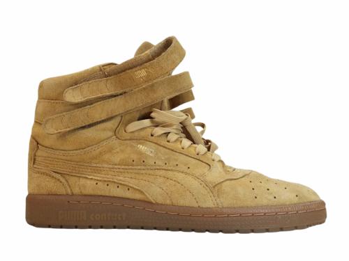 Women Tan Light Brown Suede Puma Size 8.5 Shoe Sneaker Athletic Casual High Top
