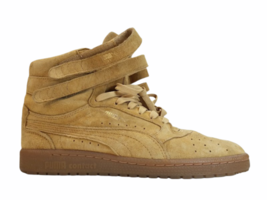 Women Tan Light Brown Suede Puma Size 8.5 Shoe Sneaker Athletic Casual High Top image 1
