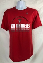 Texas Tech Red Raiders Ncaa Red T-SHIRT Men's Large Free Shipping - $9.99