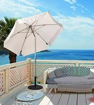 Large Garden Umbrella 7.5 Ft Crank Open Tilt Su... - $94.04