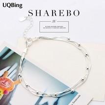 Free Shipping Pure 925 Sterling Silver Bracelets Beads Bracelets Jewelry Srebrna - $10.48