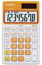 CASIO SL300VCOESIH Solar Wallet Calculator with 8-Digit Display (Orange) - $22.93