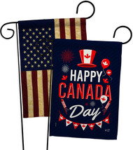 Canada Day - Impressions Decorative USA Vintage Applique Garden Flags Pa... - $30.97