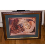 Country Western Home Interiors Picture Boots & Cowboy Hat Homco  - $69.00