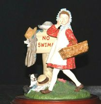 Days to Remember - Norman Rockwell Girl No Swimming Figurine AA19-1649 Vintage image 3