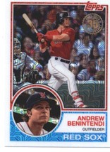 2018 Topps 83 Chrome Silver Promo Series 1 #18 Andrew Benintendi NM-MT Red Sox  - $6.00