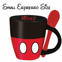 Mickey Mouse Mini Espresso Cup With Spoon Black - £14.40 GBP