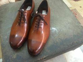 Lace Up Dark Cap Toe Genuine Brown Tone Premium Leather Men Oxford Shoes - $139.99+
