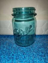 Pint Jar Blue Ball Perfect Mason used Vintage - $6.17