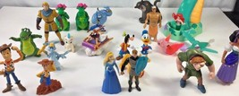 Disney Toy Figurines Woody Donald Goofy Aladdin Mermaid Jungle Hercules 23 pc - $26.11