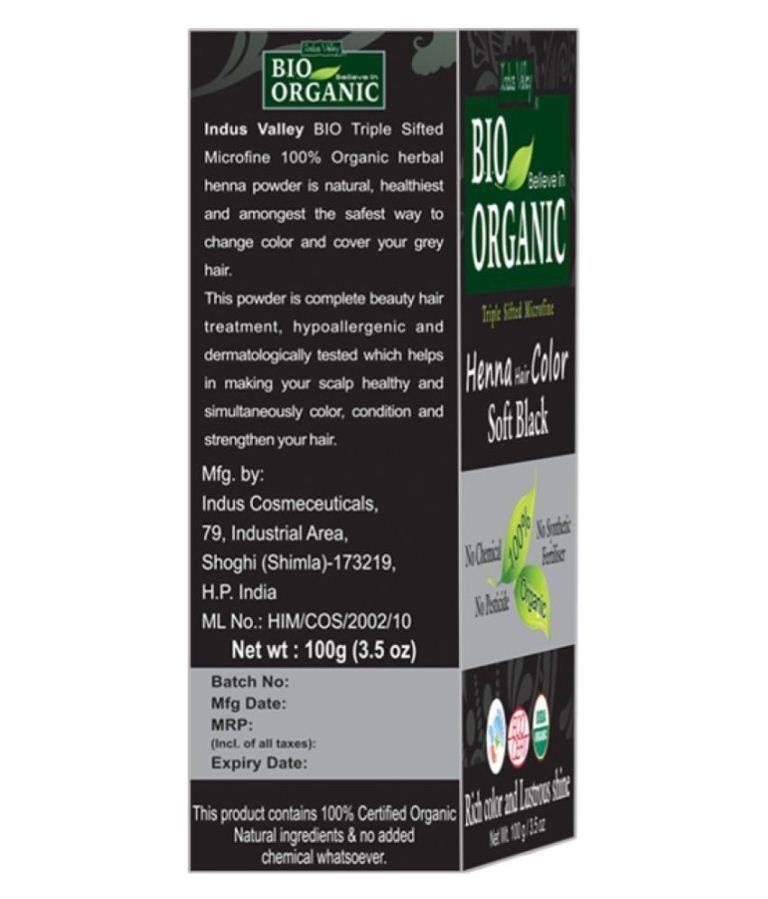 Bio Organic Soft Black Henna Hair Color (Cassia Obovata) Triple Sifted Micorfine