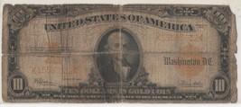 1922 $10 Gold Certificate; Fr.-1173; Well-Worn - $128.69