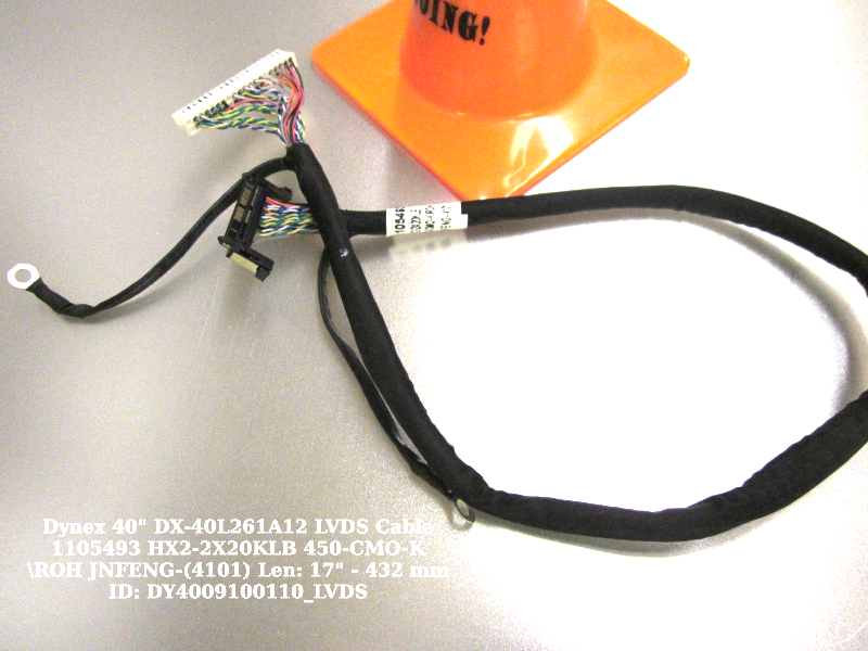 "Primary image for Dynex 40"" DX-40L261A12 LVDS Cable 1105493 HX2-2X20KLB 450-CMO-K\ROH JNFENG-(4101"