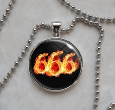 666 Number of the Beast Devil Satan Satanism Pendant Necklace - $14.00+