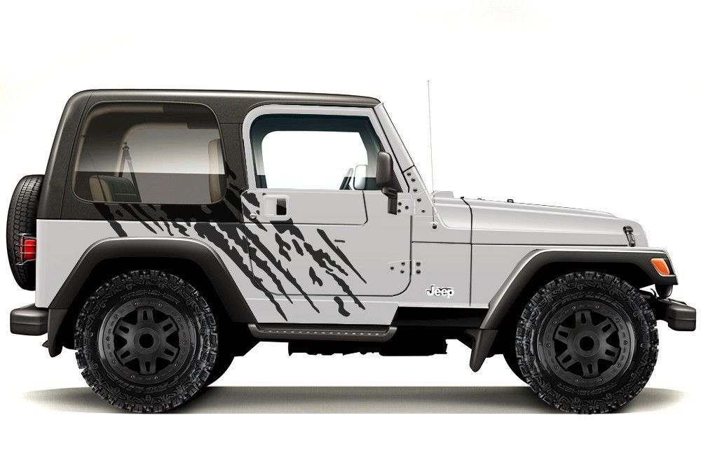 custom vinyl lettering custom vinyl graphics decal wrap kit for 99 06 jeep 1176